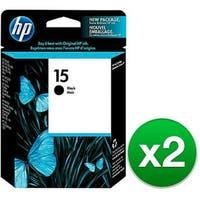HP 15 Black Original Ink Cartridge (C6615DN) (2-Pack)
