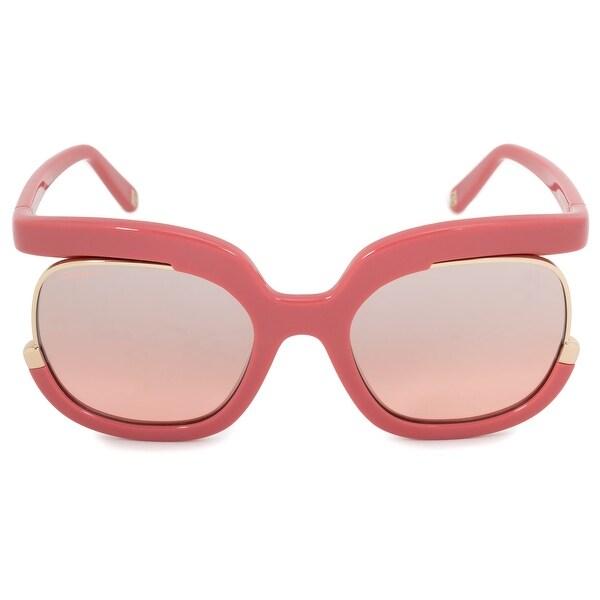 5eb15a657 Shop Salvatore Ferragamo Round Sunglasses SF863S 643 56 - On Sale ...