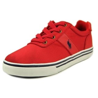 Polo Ralph Lauren Hanford Youth Round Toe Canvas Red Sneakers