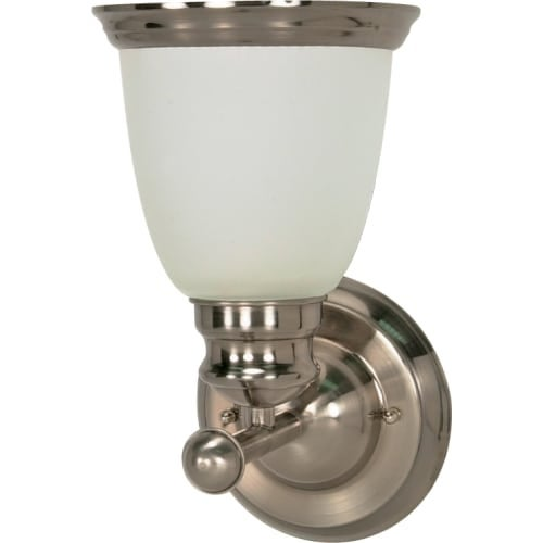 "Nuvo Lighting 60/622 Palladium Single Light 6"" Wide Bathroom Sconce with Satin Frosted Glass Shade"