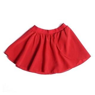 Sansha Little Girls Red Elasic Waist Serenity Pull-on Dance Skirt 8-18