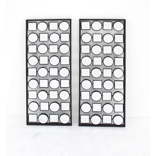 Contemporary Multi-mirrored Metal Wall Plaque Set