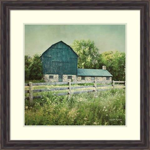Framed Art Print 'Blissful Country III (Barn)' by Elizabeth Urquhart 29 x 29-inch