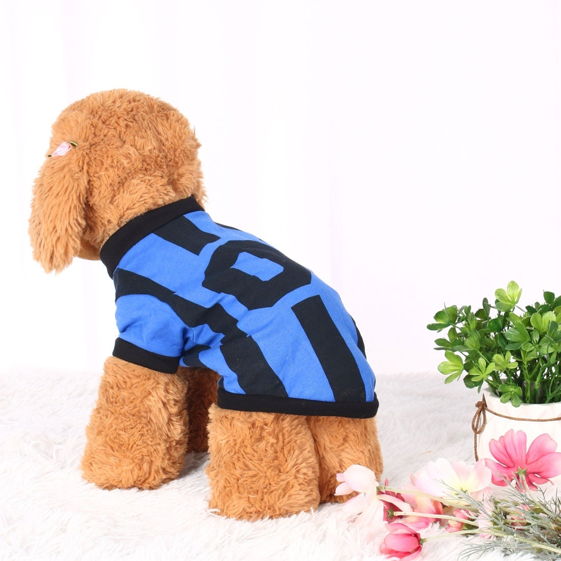 Dog T Shirt Puppy Small Pet Cat Sweatshirt Tops Casual Apparel Vest Costume (Blue - XS)