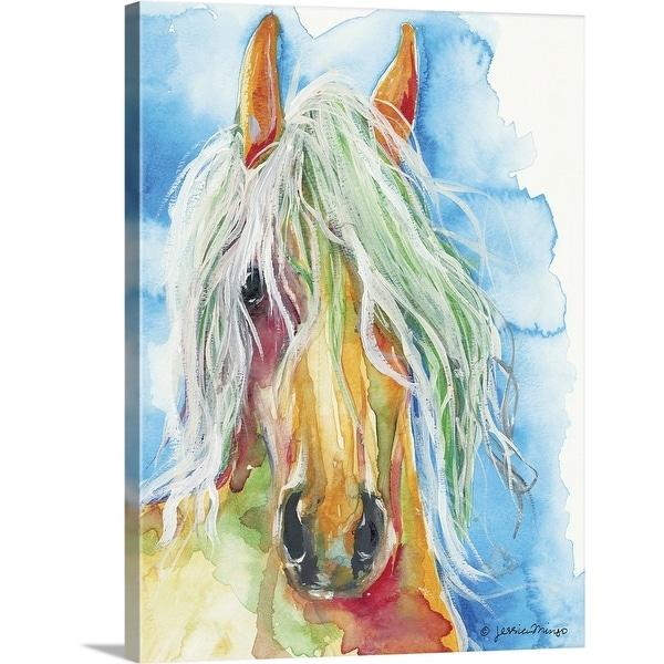 """Water Horse"" Canvas Wall Art"