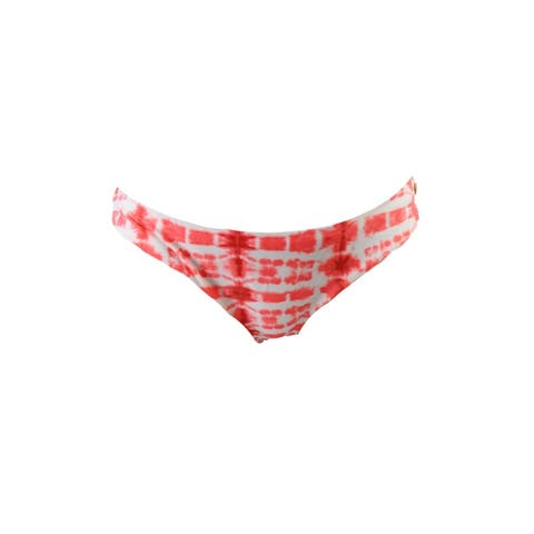 Raisins Coral Cabo Kiss Tie-Dyed Cheeky Bikini Bottom XL