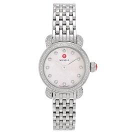 Michele Women's 'Csx Petite' MWW03A000230 1 CT Diamond Panther Link Watch