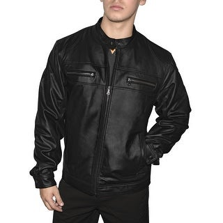 Link to Victory Outfitters Men's Genuine Leather Multi Pocket Motorcycle Jacket Similar Items in Men's Outerwear