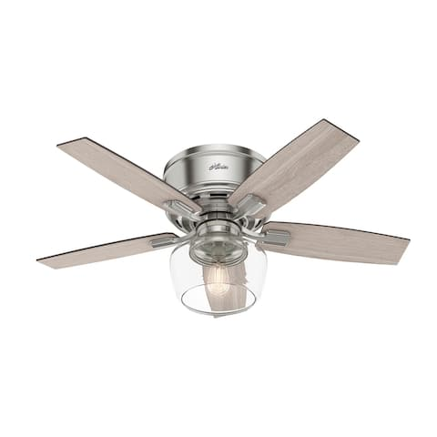 """Hunter 44"""" Bennett Low Profile Ceiling Fan with LED Light Kit and Handheld Remote"""