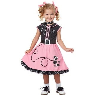 California Costumes 50's Poodle Cutie Toddler Costume - Pink