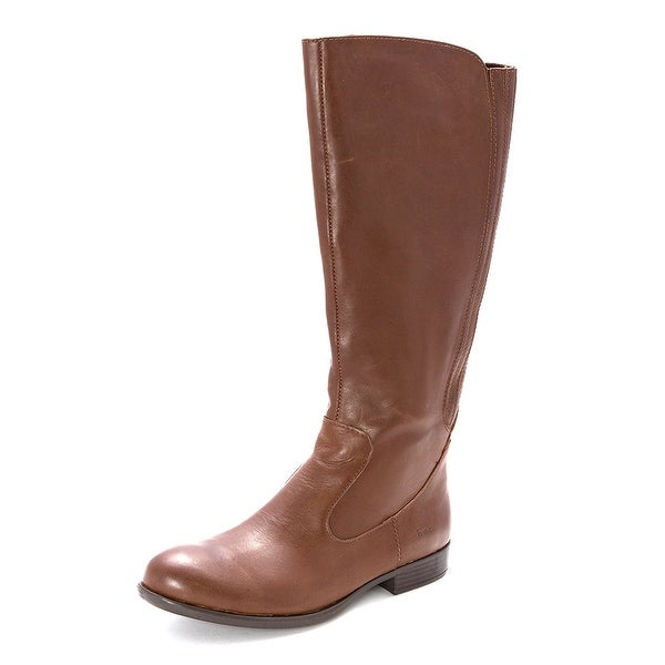 B.O.C Womens Mylan Leather Closed Toe Mid-Calf Riding Boots