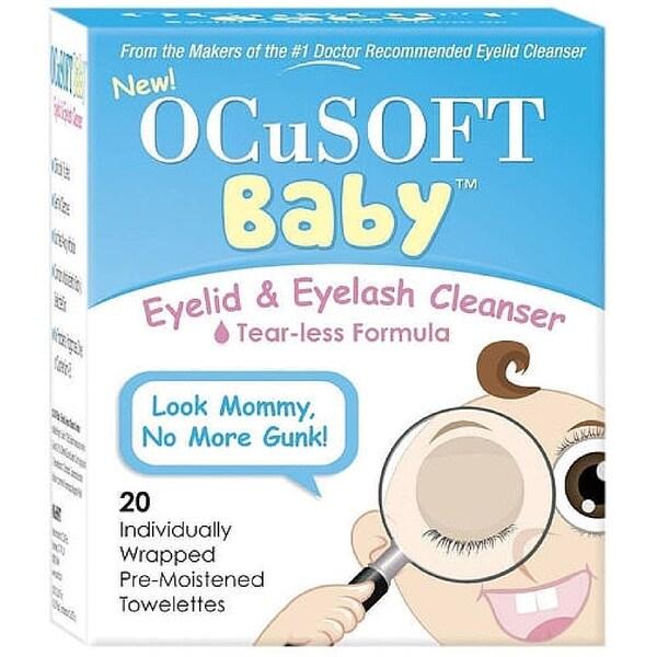 OCuSOFT Baby Eyelid & Eyelash Cleanser Towelettes 20 ea