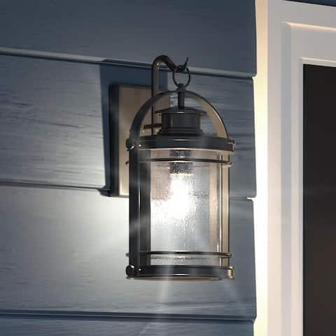 "Luxury Nautical Outdoor Wall Light, 15""H x 9""W, with American Bunglalow Style, Black Silk, UQL1431 by Urban Ambiance"