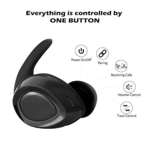 Hi-Fi Stereo Bluetooth Headsets with Mic Waterproof
