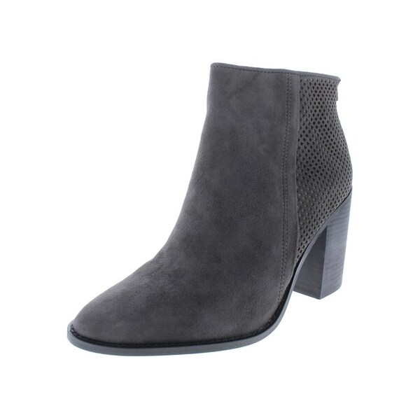 4ac5588c7b0 Shop Steve Madden Womens Replay Booties Suede Stacked Heel - Free ...
