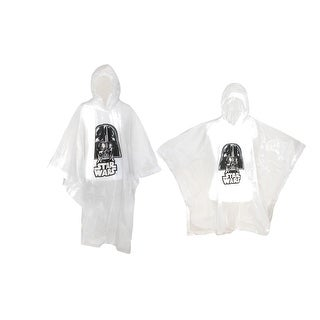 Disney Adult & Kids' Star Wars Darth Vader Poncho Set (Pack of 2) - Clear - One Size
