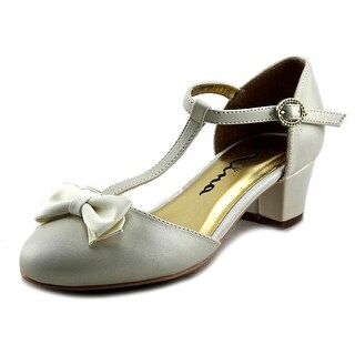 Nina India Youth Round Toe Leather Heels