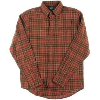 Bass Mens Flannel Plaid Button-Down Shirt