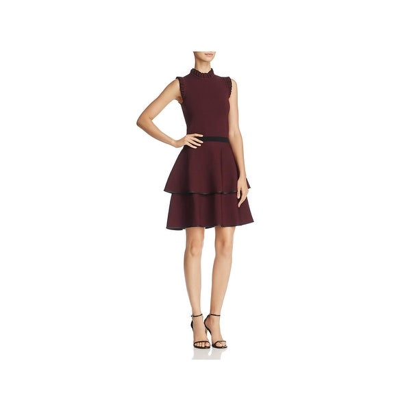 Parker Womens Cocktail Dress Knit Party - XS