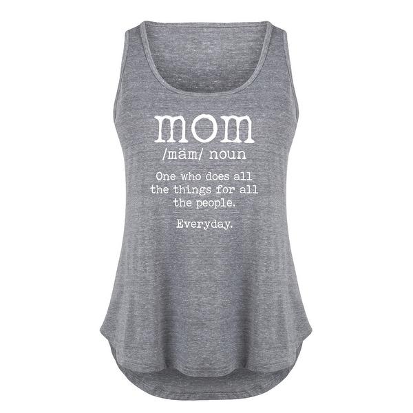 Mom Definition - Ladies Plus Size Tank