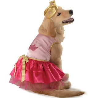Pink Princess Pup Pet Halloween Costume Large