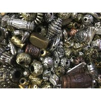 Metallic Old World Beads, 1 Pound, Assorted Colors