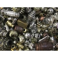 School Specialty Metallic Old World Beads, 1 Pound, Assorted Colors