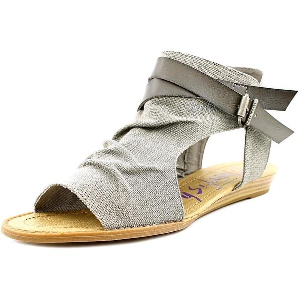 92d2e488b3bc Shop Blowfish Balla Women Open Toe Canvas Gray Gladiator Sandal ...