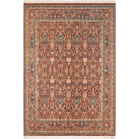"""William Morris Pak-Persian Ester Brown/Tan Wool Rug - 8'1"""" x 10'3"""" - 8'1"""" x 10'3"""""""