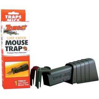 Tomcat 33538 Live Catch Mouse Trap, Single Catch