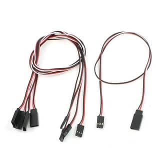 "Unique Bargains 19.7"" Long Male to Female 3 Pin Extension Cord Cable for RC Model 5 Pieces