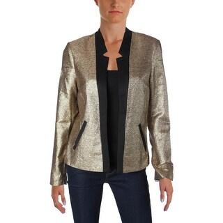 Scotch & Soda Womens Juniors Tuxedo Blazer Metallic Long Sleeve