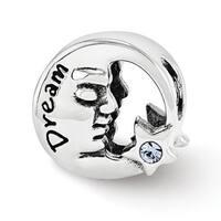 Sterling Silver Reflections Swarovski Elements Dream Moon Bead (4mm Diameter Hole)
