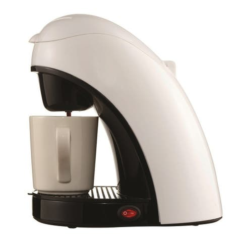 Brentwood Single Cup Coffee Maker - White