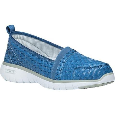 Propet Women's TravelLite Slip-On Woven Ocean Blue Woven Polyurethane