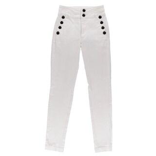 Bardot Womens Gloria Sailor Pants High Rise Button Detail - 26