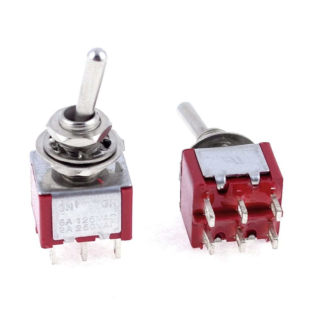 10 x Mini Miniature On-On Slide Switch 6-Pin DPDT
