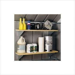 Arrow Shed SS404 Shelving System Kit - steel-stainless