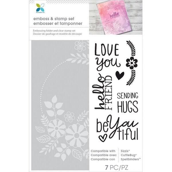 Momenta Embossing Folder Amp Stamp Set Love You