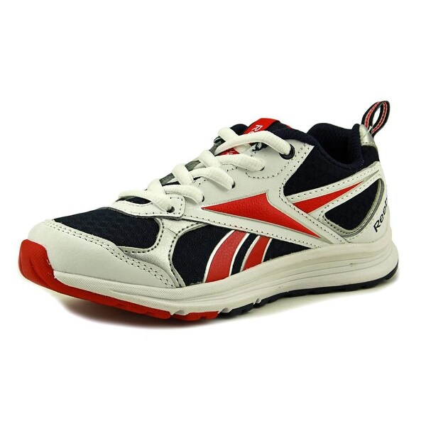 Reebok Almotio RS Girl White/Navy/Red/Silver Athletic Shoes