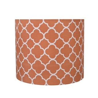 "Link to Aspen Creative Drum (Cylinder) Shaped Spider Construction Lamp Shade in Orange (12"" x 12"" x 10"") Similar Items in Lamp Shades"