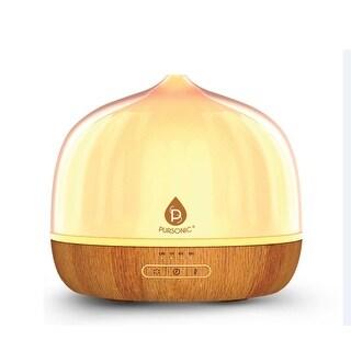 Pursonic AD500 Ultrasonic LED Aromatherapy Essential Oil Diffuser, 500ml - Wood Grain