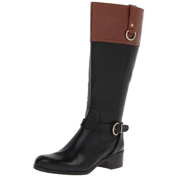 Bandolino Womens Chamber Leather Round Toe Mid-Calf Fashion Boots
