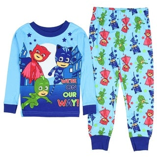 Disney PJ Masks We're On Our Way Boys Cotton Long Sleeve Pajamas TV Characters