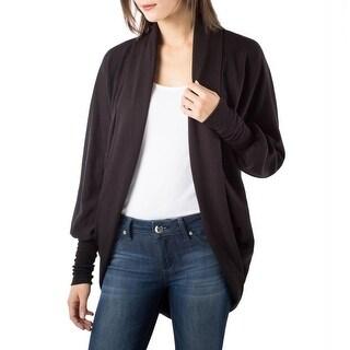 Bordeaux Womens Cardigan Sweater Fleece Lined Open Front (Option: Xs)