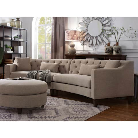 Copper Grove Brezovo Grey Curved Sectional