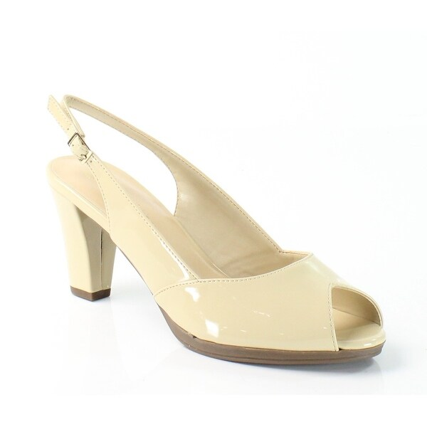 Bella Vita NEW Beige Nude Shoes Size 7.5N Patent Slingbacks Heels