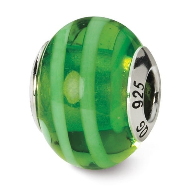 Italian Sterling Silver Reflections Green Bead (4mm Diameter Hole)