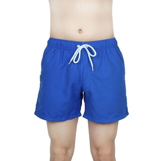 Unique Bargains Chetstyle Authorized Men Summer Surfing Beach Shorts Swim Trunks Royal Blue W 32