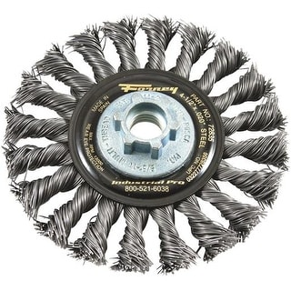 "Forney Industries 4.5""Twst Knot Wire Wheel 72835 Unit: PKG"
